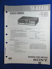 SONY TA-AX430 INTEGRATED AMPLIFIER SERVICE  MANUAL FACTORY ORIGINAL GOOD COND
