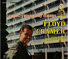 """FLOYD CRAMER!! - """"COUNTRY PIANO CITY STRINGS"""" RCA VICTOR STEREO LP VG!!"""