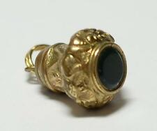 Antique Victorian Miniature Gold Filled Bloodstone Watch Fob Seal 1/2 an inch