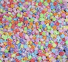 100 Mixed Colour Acrylic Flower Beads Craft Daisy Childrens Spacers - 6mm - PB1