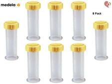 MEDELA BREAST MILK STORAGE COLLECTION BOTTLE 2.7 oz/ 80 ml x8 WITH LID #6109S