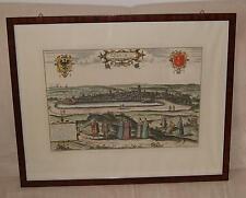 Danzig  Stahlstich Kupferstich M.Merian Koloriert Gdansk 1576