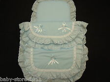 Beautiful  Pram  Quilt  and  Pillow  Set  suitable for MOST PRAMS COLOUR  BLUE