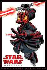 "Disneyland StarWars Weekend Donald/ Darth Maul [ Star Tours ] 8.5"" x 11"" Poster"