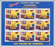 Maldives 1992 disney/films/cinema/pluto/chiens/animaux/animation 9v sht (d00234u)