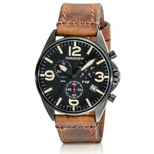 New Torgoen Swiss T16 Men's Chronograph Black Face Pilot 45mm Watch T16BKIP
