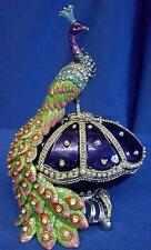 JULIANA TREASURED TRINKETS RUSSIAN IMPERIAL PEACOCK EASTER EGG TRINKET BOX 15060