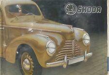 Skoda 1101 Tudor Saloon Cabriolet Van Late 1940s Original French Sales Brochure
