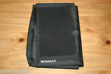 GENUINE RENAULT OWNERS MANUAL/ HANDBOOK WALLET / FOLDER LAGUNA, SCENIC, CLIO,