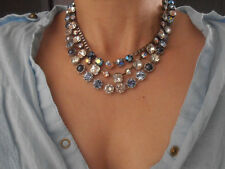 Swarovski Necklace, Lavender Multicolors, Art Deco Anna Wintour Crystal Choker