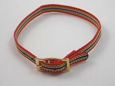8mm Multi Colored Ladies Vintage Wrist Band Gold Tone Buckle Long New Old Stock