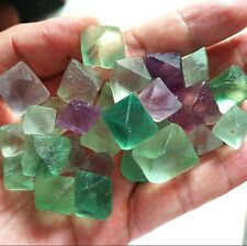 85g 17—25pc Natural Fluorite Crystal Point Cut Polished China