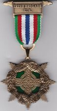 Irish Brigade Civil War Medal with Chest Ribbon and Lapel Pin