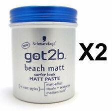 2 x Schwarzkopf GOT2B Beach Matt Paste - 100ml each = 200ml