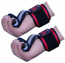 BOOM Prime Weight Lifting Gym Straps Hand Bar Gel Wrist Support Wraps Deadlift