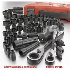 Craftsman 85pc Universal Max Axess Tool Set New In Case MTS Socket SAE METRIC