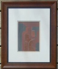 ROLPH SCARLETT 1889-1984 ORIGINAL 1930s MIXED MEDIA ABSTRACT PAINTING SIGNED