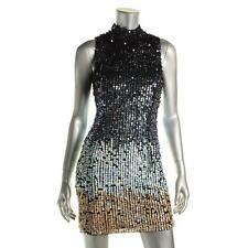 French Connection 3889 Womens Cosmic Beam Multi Metallic Party Dress 0 BHFO