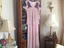 """Joseph Ribkoff size 18 pink beaded/sequinned dress.57"""" long.21"""" pit to pit"""