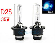 A Pair D2S D2R D2C 8000k HID Xenon Low Beam Replacement Light Bulbs AC 35W
