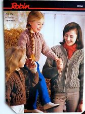 Robin Pattern for Aran Jackets sizes 24-46""