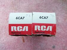 PAIR OF RCA 6CA7 // EL34 AUDIO POWER OUTPUT VACUUM TUBES NIB/NOS EAST GERMANY
