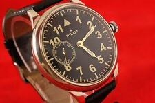 PILOT LACO Vintage Russian USSR WAR2 WW2 military watch w transparent backcase