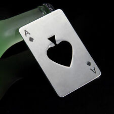 Playing Card Ace of Spades Poker Bar Tool Bottle Soda Beer Cap Opener Gift