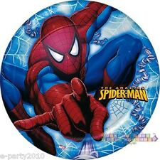 The Amazing SPIDERMAN Small PLATES (8) ~ Super Hero Birthday Party Supplies Cake