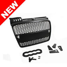 05-08 AUDI A4 B7 RS-STYLE EURO MESH GRILLE W/ BADGE HOLDER - BLACK