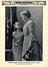 Kaiserin Auguste Viktoria mit Prinzessin Viktoria Luise Bilddokument von 1906