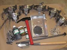 Coyote Trapping Package 6 duke #3 coil spring off set Fox Coyote Raccoon Trap