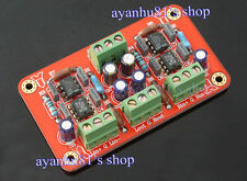 Balanced to unbalanced Stereo Pre-amplifier Headphone AMP Board Low Distortion