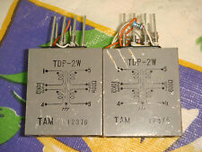 2 X TAMURA TDP-2W 10000 OHM SPLIT : 600 OHM SPLIT AUDIO MATCHING TRANSFORMER