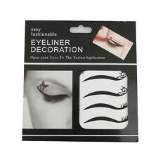 Eye Temperary Tatoo Black Eyelash Eyeliner Sticker Double Eyelid Tape Makeup