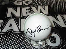 Stephen Fleming (New Zealand) signed White Cricket Ball + COA/Photo proof