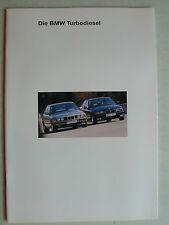 Prospekt BMW Turbodiesel (325td/tds, 525td/tds, 525td/tds Touring),2.1993, 44 S.