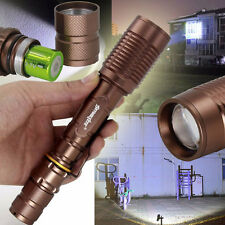 ZOOM Tactical 4000LM 18650 CREE XML T6 LED Zoomable Bronze Flashlight Torch Lamp