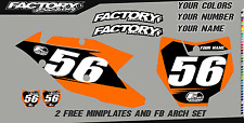 KTM SX Series 05-06 125 250 450 Printed Number plate Backgrounds BASIC SERIES
