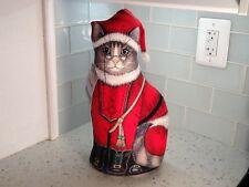 Beautiful Tall Christmas Cloth Cat Doorstop