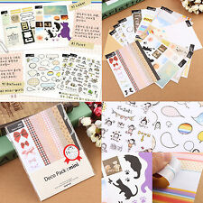 14pcs ''DECO PACK MINI'' Diary Book Stickers Notebook Scrapbook Decoration Paper