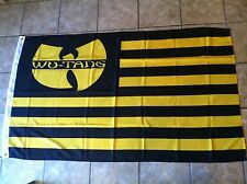 WU-TANG 3x5 FEET FLAG BANNER Yellow Black RZA GZA Method Man ODB Killah WU CLAN