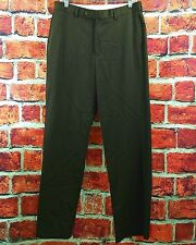 Brooks Brothers Madison 1818 Brown Wool Flat Front Trousers Dress Pants 32x31