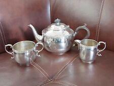 VINTAGE 3 PEZZI Servizio da tè servizio da parte di Mappin & Webb SHEFFIELD 1951