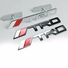 3D Metal TRD Front Grille Badge Decal Sticker Emblem Car Logo Good Use ZXF