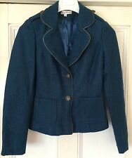 Teale wool blend military style jacket - new