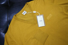 NWT Authentic Men's Armani Collezioni V-Neck Wool Yellow Sweater L