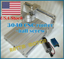 【USA Stock】 3040 CNC Router Milling Engraving Machine Frame+300W Spindle+Regulat