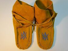 NATIVE AMERICAN, HIGH TOP, MOCCASINS, 10 INCHES LONG