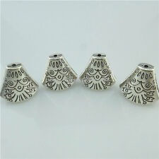 14945 10x Antique Silver Totem Bell Shape Beads Caps Tassels End For Dangle Nice